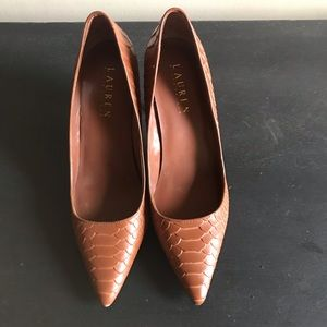 Lauren Ralph Lauren Brown Pointy Toe Pumps